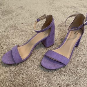 a new day | lavender purple heeled sandals
